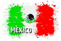 Flag of Mexico from blots of paint Royalty Free Stock Photography