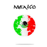 Flag of Mexico from blots of paint Royalty Free Stock Image