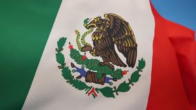 Flag of Mexico. The current flag was adopted in 1968 stock video footage