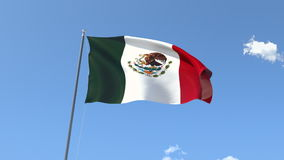 Flag of Mexico stock video