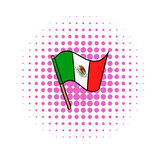 Flag of Mexico icon, comics style Stock Photography