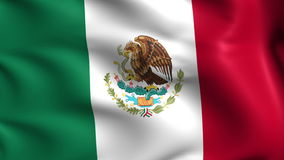 Flag of Mexico (loop) stock video footage