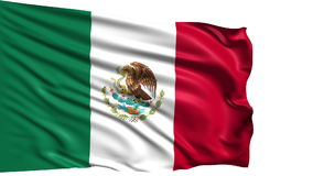 Flag of Mexico (loop) stock video