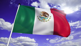 Flag of Mexico (loop) stock footage