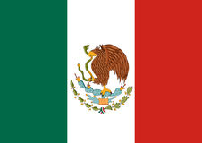 Flag of Mexico. Mexican national background. Royalty Free Stock Photo