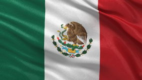 Flag of Mexico seamless loop Stock Photography
