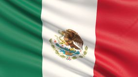 The flag of Mexico. stock photography