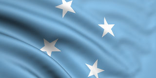 Flag Of Micronesia. 3d rendered and waving flag of micronesia Royalty Free Stock Photo