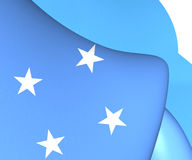 Flag of Micronesia. Close Up Stock Image