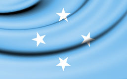 Flag of Micronesia. 3d Rendered Flag of Micronesia Stock Images