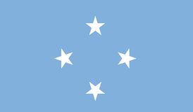 Flag of micronesia federated states  icon illustration Stock Photos