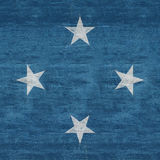 Flag of Micronesia Grunge Royalty Free Stock Image