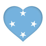 Flag of Micronesia Heart Stock Photography
