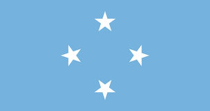 Flag of Micronesia Royalty Free Stock Photography
