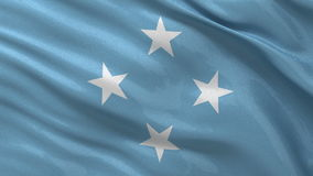 Flag of Micronesia seamless loop Stock Image