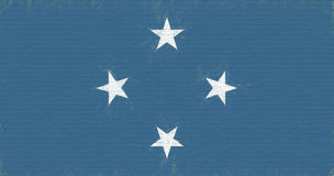 Flag of Micronesia Wall Royalty Free Stock Photography