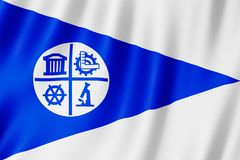 Flag of Minneapolis city, Minnesota US stock illustration