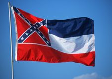 Flag of Mississippi. State Flag of Mississippi usa Stock Photography
