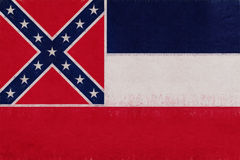 Flag of Mississippi Grunge Royalty Free Stock Photos