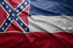 Flag of Mississippi state Stock Image