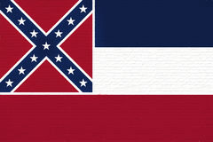 Flag of Mississippi Wall Royalty Free Stock Images