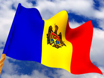 Flag. moldova. 3d Very beautiful three-dimensional illustration, figure Stock Image