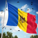 Flag of Moldova. This is a computer generated and 3d rendered image Royalty Free Stock Photo