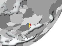 Flag of Moldova on map Royalty Free Stock Photography
