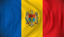 Flag of Moldova. Vector illustration Royalty Free Stock Images