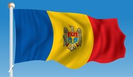 Flag of Moldova. Vector illustration Stock Image