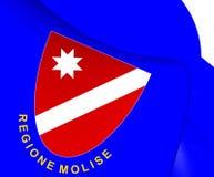 Flag of Molise, Italy. Royalty Free Stock Photography