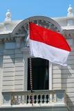 The flag of Monaco Stock Image