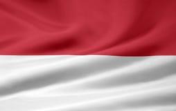 Flag of Monaco stock photo