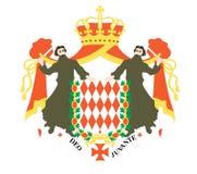 Flag of monaco. Vector illustration Stock Images