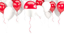 Flag of monaco on balloons Stock Image