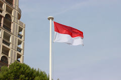 Flag of Monaco. The National Flag Of The Principality Of Monaco Royalty Free Stock Photo