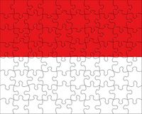 Flag of  Monaco  puzzle Stock Photo