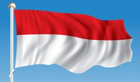 Flag of Monaco. Vector illustration Stock Image
