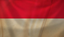 Flag of Monaco. Royalty Free Stock Photo
