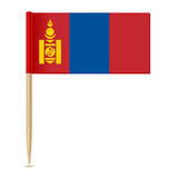 Flag of Mongolia. Flag toothpick Royalty Free Stock Photo
