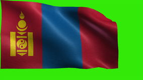 Flag of Mongolia - LOOP Royalty Free Stock Photography