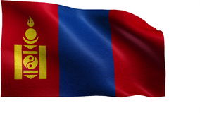 Flag of Mongolia - LOOP Stock Photos