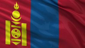 Flag of Mongolia - seamless loop Stock Image