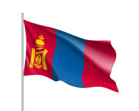 The flag of Mongolia, vector flat style Stock Photography