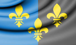 Flag of Monmouthshire, Wales. Royalty Free Stock Photos