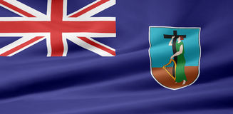 Flag of Monserrat Royalty Free Stock Photo
