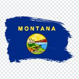 Flag of  Montana from brush strokes. United States of America. Flag Montana on transparent background for your web site design, lo. Go, app, UI. Stock vector stock illustration