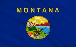 Flag of Montana, USA. Flag of Montana is a state in the Western region of the United States Stock Photos