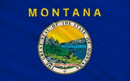 Flag of Montana, USA. Flag of Montana is a state in the Western region of the United States Royalty Free Stock Image