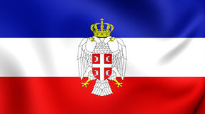 flag montenegro Сербия иллюстрация вектора